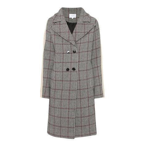 Check Sheepskin Sleeve Coat, ${color}