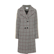 Check Sheepskin Sleeve Coat