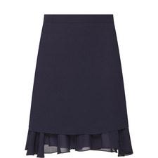 Ruffle Hem Mini Skirt