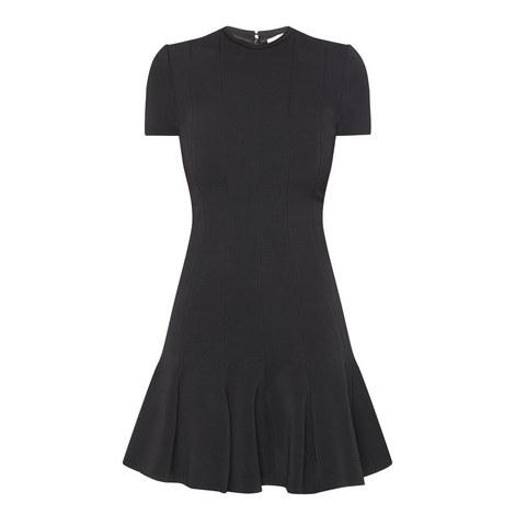 Cap Sleeve Peplum Dress, ${color}