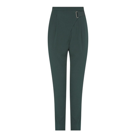 High Rise Belt Detail Trousers, ${color}