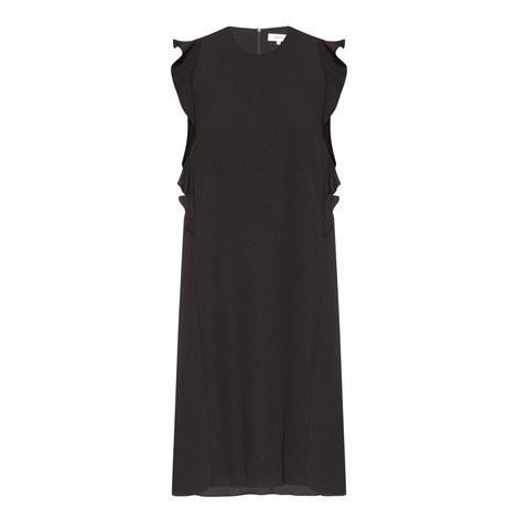 Ruffled Crepe Dress, ${color}