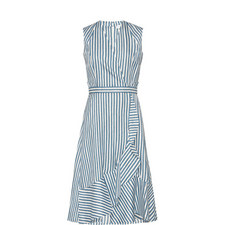 Cross-Over Stripe Dress