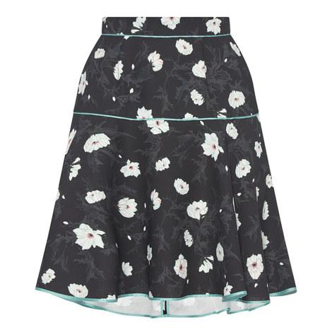 Floral Drop Waist Skirt, ${color}