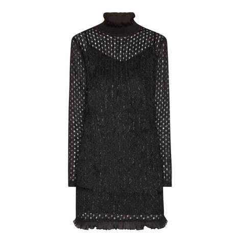 Glitter Fringe Mini Dress, ${color}