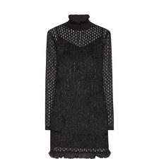 Glitter Fringe Mini Dress
