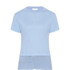 Pleated Hem T-Shirt