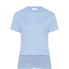 Pleated Hem T-Shirt