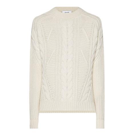 Aran Knit Sweater, ${color}