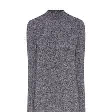 Split Side Wool Cardigan
