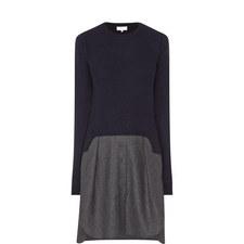 Two-Tone Long Sleeve Dress