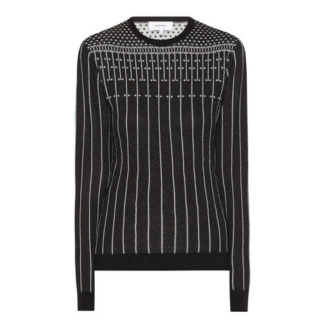 Lurex Knitted Sweater, ${color}