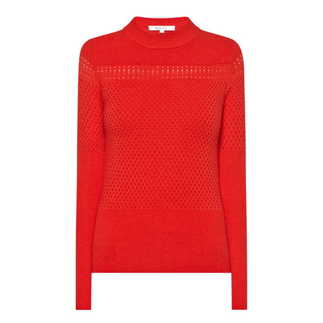 Long Sleeve Knitted Sweater, ${color}