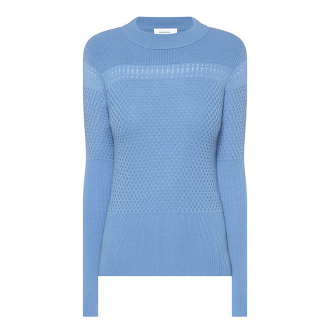 Textured Wool Mix Sweater, ${color}
