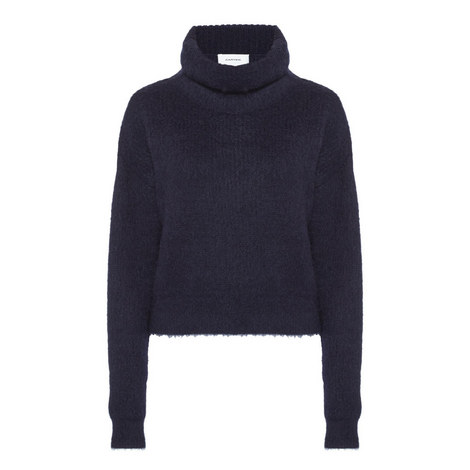 Mohair Polo Neck Knit Sweater, ${color}