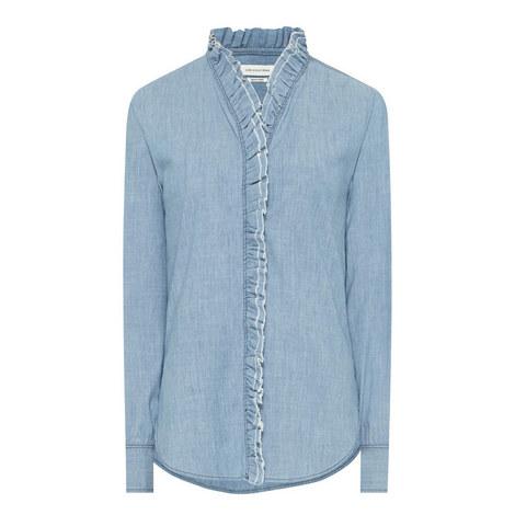 Awendy Ruffled Chambray Shirt, ${color}