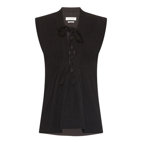 Kenny Lace-Up Detail Top, ${color}