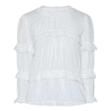 Loxley Embroidered Peasant Blouse, ${color}