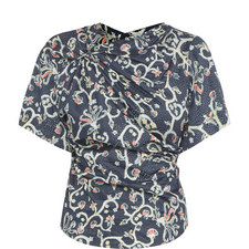 Carey Short Sleeve Print Top