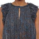 Erell Short Sleeve Ruffle Print Top, ${color}