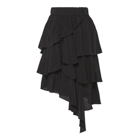 Weez Asymmetric Ruffle Skirt, ${color}