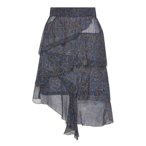 Jeezon Ruffle Print Layer Skirt , ${color}
