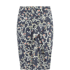 Caja Ruffle Print Skirt