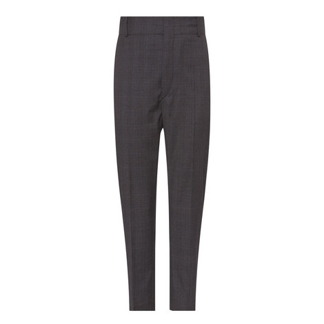 Noah Cropped Check Wool Trousers, ${color}