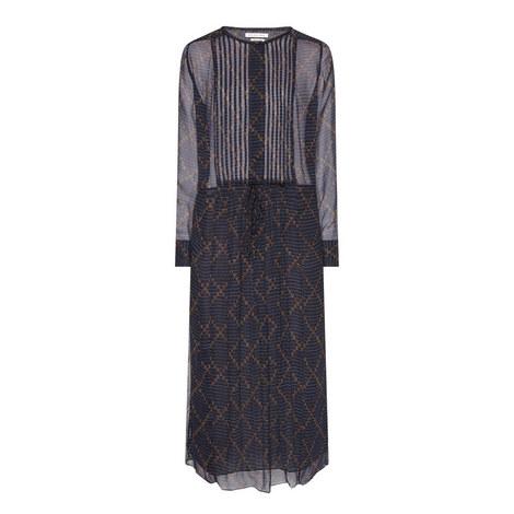 Baphir Silk Print Midi Dress, ${color}