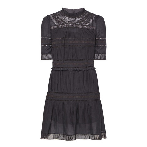 Vicky Short Sleeve Ruffle Dress , ${color}