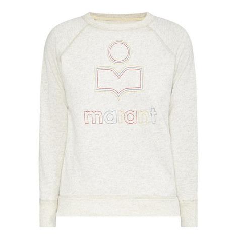 Milly Cream Logo Sweatshirt, ${color}