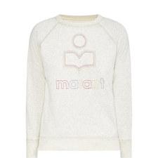 Milly Cream Logo Sweatshirt