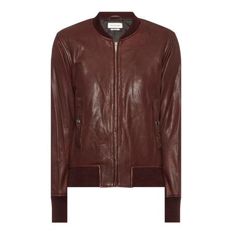 Brantley Leather Bomber Jacket, ${color}