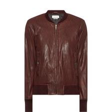 Brantley Leather Bomber Jacket