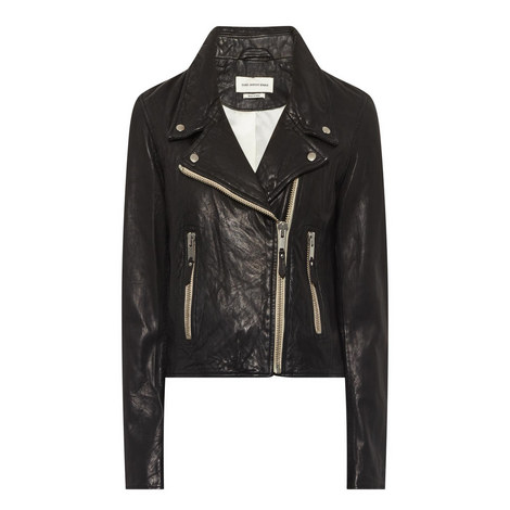 Aken Leather Biker Jacket, ${color}