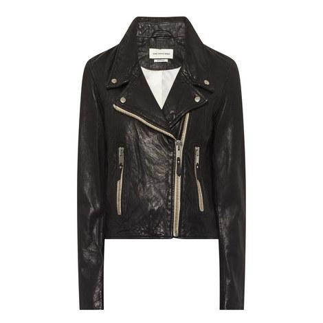 Aken Leather Biker Jacket, ${color}
