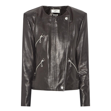 Grinly Leather Jacket, ${color}