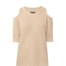 Dias Wool Mix Cut-Out Sweater