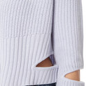 Cut-Out Textured Sweater, ${color}