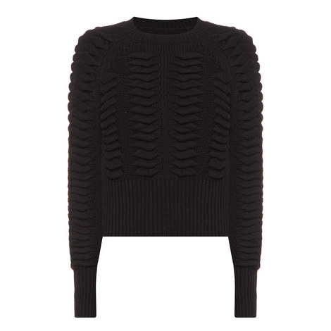 Volta Cropped Knitted Sweater, ${color}