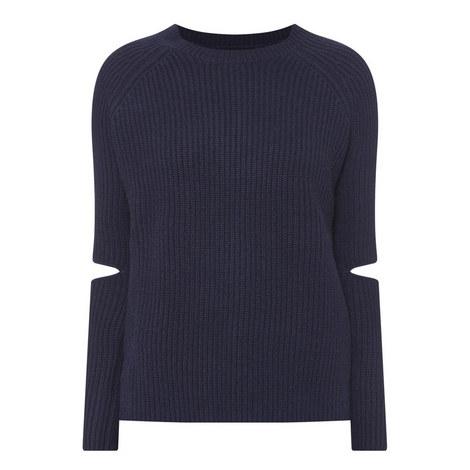 3a8795b23b5498 ZOE JORDAN Turing Elbow Slit Sweater