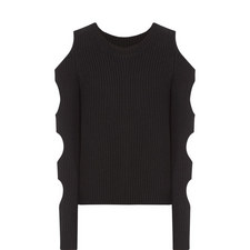 Galen Cropped Knit Sweater