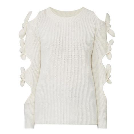 Lovelace Cut-Out Sweater, ${color}