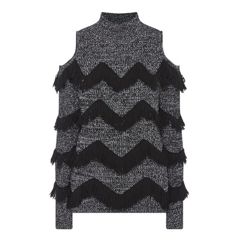 Hawking Fringed Knit Sweater, ${color}