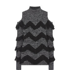 Hawking Fringed Knit Sweater