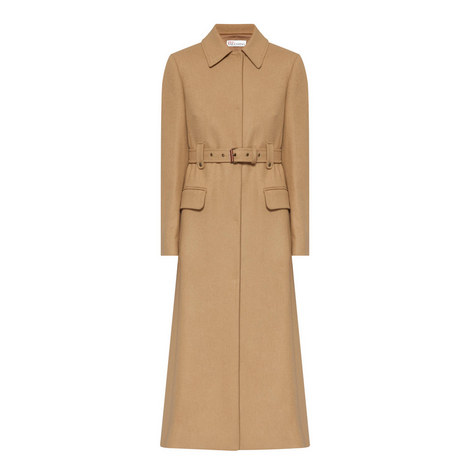 Longline Wool Mix Coat, ${color}