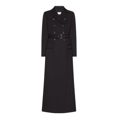 Longline Double Breasted Coat, ${color}