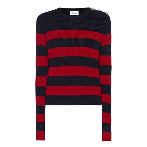 Block Stripe Wool Sweater, ${color}