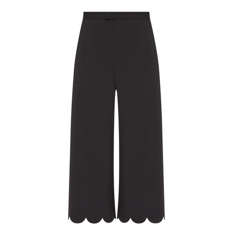 Scallop Detail Trousers, ${color}