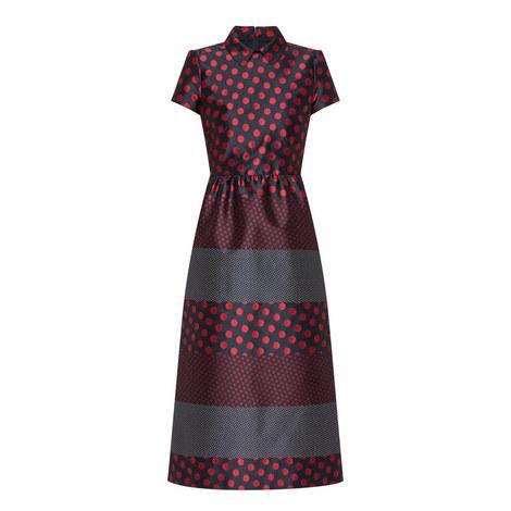 Dot Print Midi Dress, ${color}